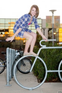 Aubrey Belle on campus 5